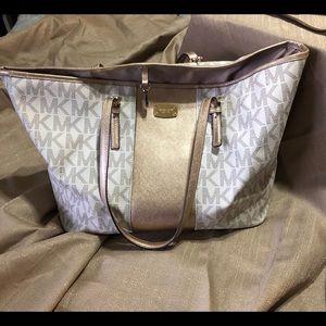 Michael Kors Large tote bag - cream & gold